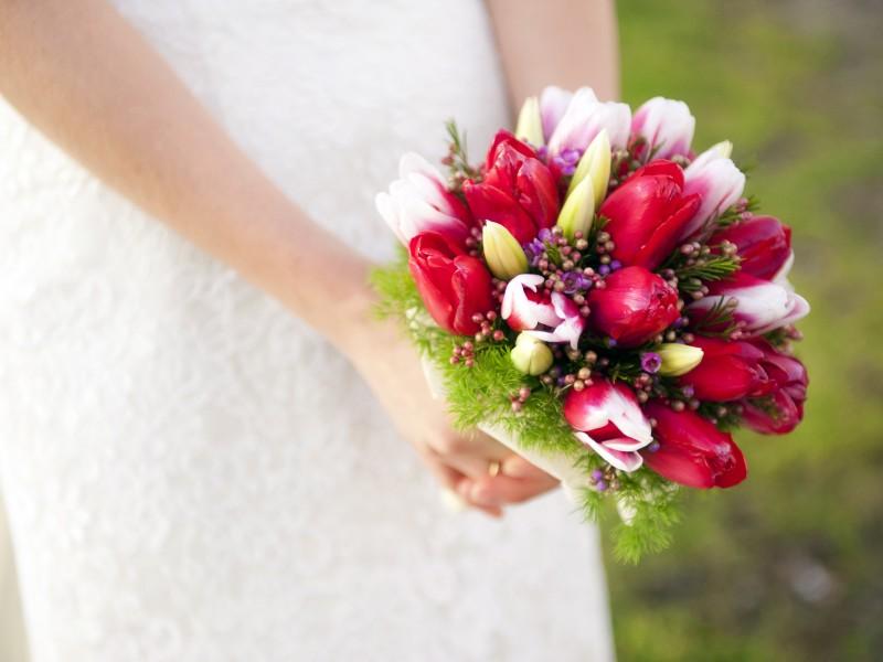 Букет невесты из маленьких тюльпанов фото, цветы оптом харьков